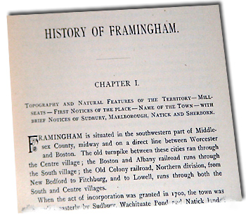 Chapter 1, page 1, first paragraph from temple's History of Framingham