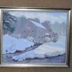 Old Grist Mill in Winter by Charles Holt, (Framingham, MA - Artist Guild Vice President)
