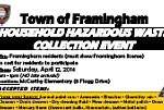2014 Framingham Hazardous Waste Day