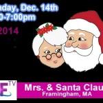 Santa and Mrs. Claus on Access Framingham TV December 14, 2014