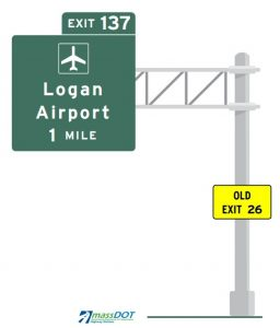 new masspike exit numbers