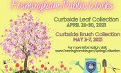 2021 Framingham Leaf & Brush Pickup info
